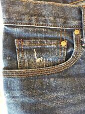 Gap 1969 Sexy Boyfriend 26 Jeans Denim Loco Wash Inseam=29 Blue Distressed