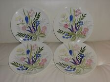 "4 RED WING POTTERY DINNER PLATES NUMBERED 253, 11"" WIDE"