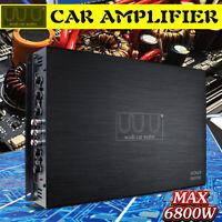 12V 6800W 4CH Car Amplifier Bridge Connection Bass Subwoofer Class AB AMP Car