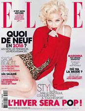 Madonna French Elle Magazine December 2015 Mag France Rebel Heart