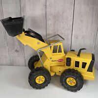 Vintage 1970s Mighty Tonka Front Loader Yellow Pressed Steel 54280 XMB-975 Tires