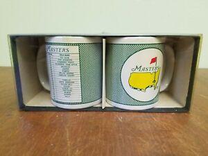 Vintage Masters Golf Coffee Two Mug Set With Scorecard Design