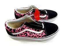 Vans Old Skool Mens Skate Shoes 12 Leopard Pink Black New NIB