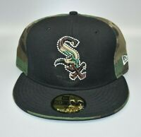 Chicago White Sox New Era 59FIFTY Camo & Black Fitted Cap Hat - Size: 7 1/2