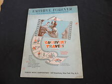 SHEET MUSIC VINTAGE GULLIVER'S TRAVELS FAITHFUL FOREVER free shipping