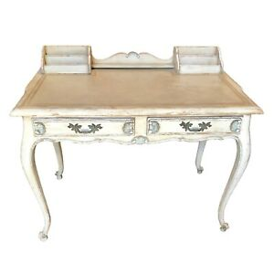Vintage Louis XV Style Painted Desk