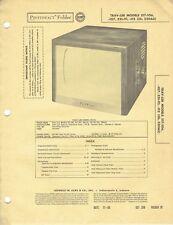 ORIGINAL 1956 Trav-ler TV Models 517-106+ serviceManual PHOTOFACT SCHEMATIC /135