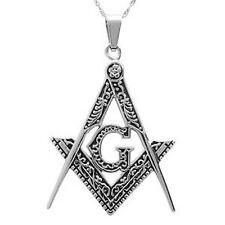 Masonic Pendant - Stainless steel carved inner design - Pendants For Freemasons