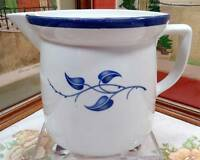 "VINTAGE ROSENTHAL #R432 BLUE LEAVES 5 7/8"" WATER PITCHER 1938"
