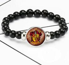 Harry Potter Gryffindor Photo Glass Noosa Snap Chunk Elastic Beads Bracelet