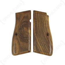 HI-BROWNING WOODEN PISTOL GRIPS - Repro Military German Brown Handle WW2