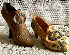 Just The Right Shoe (2) Teetering Court & Afternoon Tea both w Rhinestones