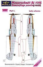 LF Models 1/32 MESSERSCHMITT Bf-109E Late Scheme Part 1 Camouflage Paint Mask