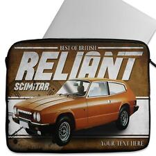 Personalised Laptop Cover RELIANT SCIMITAR GTE Neoprene Sleeve Classic Car CL44