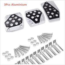Aluminium alloy APC Non-Slip 3pc Foot Pedals Pad Covers Manual Transmission M/T