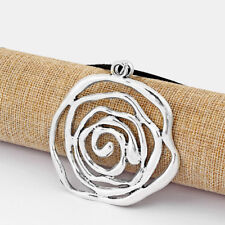 1Pcs Large Antique Silver Open Hollow Spiral Swirl Charms Pendant Chain Necklace
