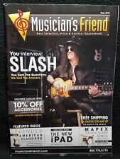 Guns-N-Roses SLASH Musician's Friend Guitar Catalog Magazine May 2012