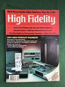 High Fidelity Sept 1982 vintage Hi-Fi electronics