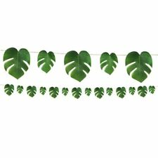 Luau Tropical Palm Leaf Garland Party Banner Monstera leaves Trend Decoration