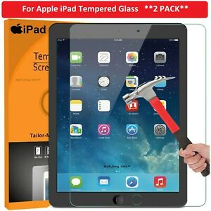 For Apple iPad 5th Gen (2017) Tempered Glass Screen Protector Genuine Hard