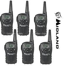 6 Pack Midland Xtra Talk LXT118 Two Way Radio Walkie Talkie FRS 18 Mile Set 22ch