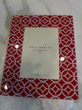 Pottery Barn Patterned glass frame  5 X 7 red New
