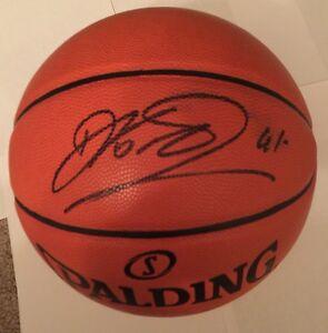 Dirk Nowitzki Signed Basketball JSA #Q24743 Dallas Mavericks Black