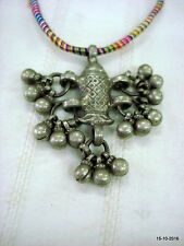 necklace fish pendant indian pendant vintage antique tribal old silver