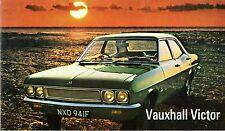 Vauxhall Victor FD 1968-69 UK Market Foldout Sales Brochure Saloon Estate