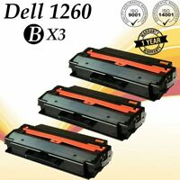 3 PK Black 1260 Ink Tone Cartridge for DELL Printer 1260 B1260 B1260dn B1265dnf