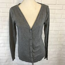 Pull & Bear Womens Cardigan Sweater Long Sleeves Vneck Button Up Gray Large