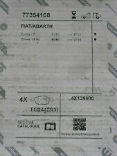 KIT PASTIGLIE FRENO POSTERIORI FIAT CROMA(194) 1.9 D MULTIJET FIAT 77364168