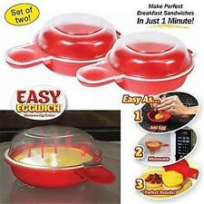 2 pcs Easy Non-Stick Cooking Eggwich Tool  Microwave Egg Cooker Fast Egg Maker B