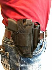 SIG/SAUER P-230,P-232 AMBIDEXTROUS BELT CLIP HOLSTER WITH EXTRA-MAGAZINE POUCH