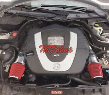 Black Red For 2008-2012 Mercedes Benz C300 C350 3.0L 3.5L V6 Air Intake Kit