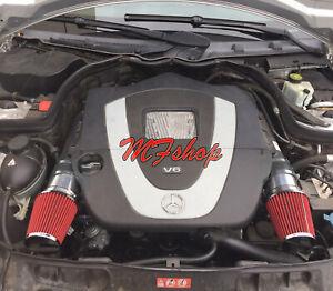 Black Red For 2008-2012 Mercedes Benz C300 3.0L V6 Air Intake Kit