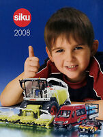 0002SI Siku Prospekt Modellautokatalog 2008 klein model cars D F GB Modellautos