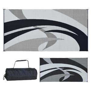 9 x 18 ft. Reversible Indoor Outdoor Mat Door RV Rug Picnic Camping Ground Cover