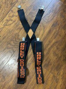 Harley-Davidson Vintage Orange Black Suspenders