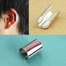 Fashion Punk Gothic Long Smooth Ear Cuff Wrap Clip Earring No Piercing Silver