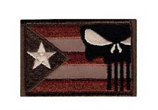 Puerto Rico Flag Punisher Tactical Morale Hook Patch (PR9)