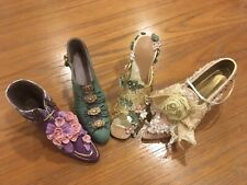 Miniature Shoes Lot of 4 CollectableNostalgia by Popular Imports Antiques Mini