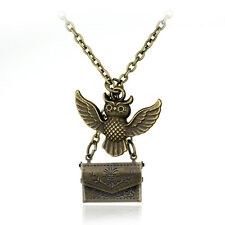 New Vintage Harry Potter Owl Post with Acceptance Pendant Letter Locket Necklace