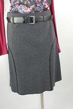 Apriori Rock 38 grau schwarz mit Gürtel Viskose skirt jupe neu m. Etikett