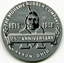 """1938 Indian Logo Seal: MOHAWK RUBBER COMPANY """"25th"""" (1913-1938)"""