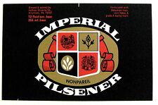 Hofbrau Brewing IMPERIAL PILSENER beer label PA 12 fluid ozs.