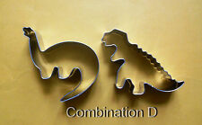 Dinosaur dino animal  party baking  biscuit cookie cutter mold 2pcs/set D