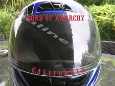 STICKER VISIERE CASQUE SONS OF ANARCHY BIKER TUNING MOTO SCOOTER AUTO