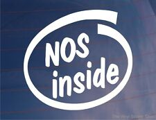 NOS INSIDE Novelty Car/Window/Bumper Sticker - for Cars with Nitrous Oxide Kits