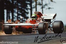 "F1 Driver Formula One Henri Pescarolo Hand Signed Photo 12x8"" AD"